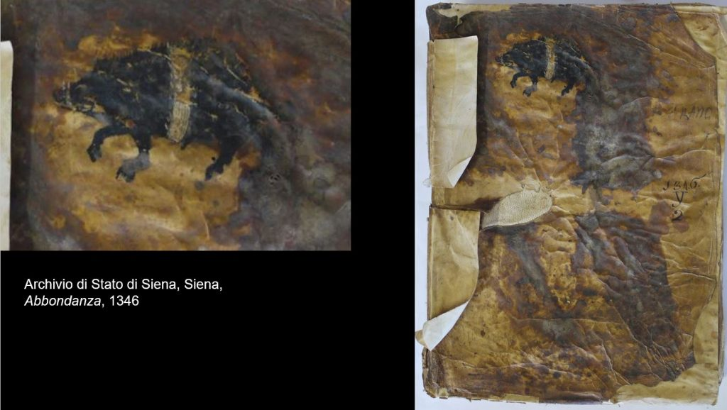 Registro dell'Abbondanza (Archivio di Stato di Siena) con cinta sense