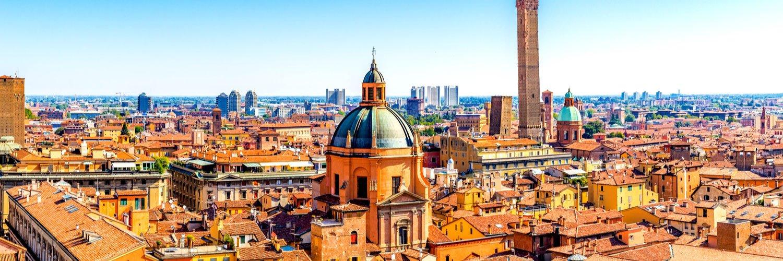 Panorama Bologna due torri