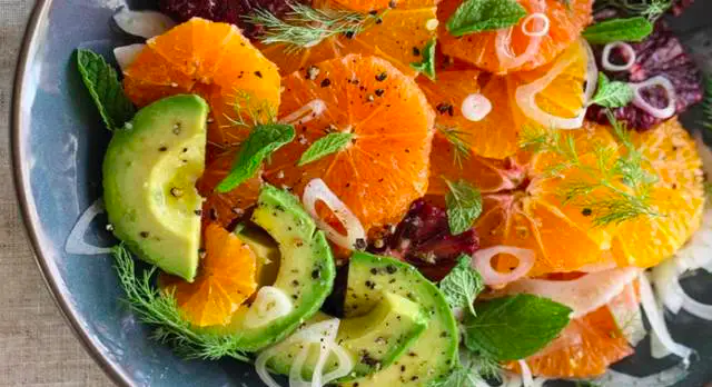 insalata mandarini avocado